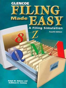 Filing Made Easy, by Holmes, 4th Edition 4 PKG 9780028138312