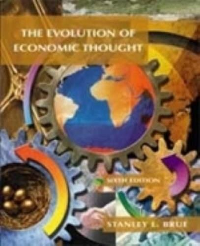 Evolution of Economic Thought, by Brue, 6th Edition 9780030259982