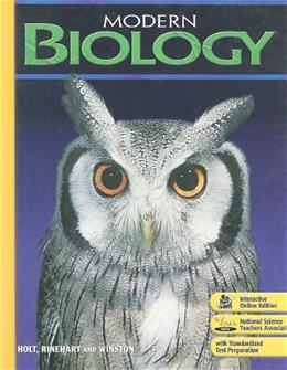 Modern Biology: Student Edition 2009 1 9780030367694