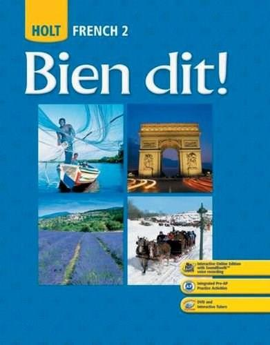 Bien Dit! French 2, by Demado, Grades 9-12 9780030426971
