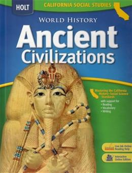 World History: Medieval Ancient Civilzations, by Harcourt, CALIFORNIA EDITION, Grade 6 9780030734595