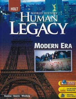 World History: Human Legacy, by Ramirez 9780030938832