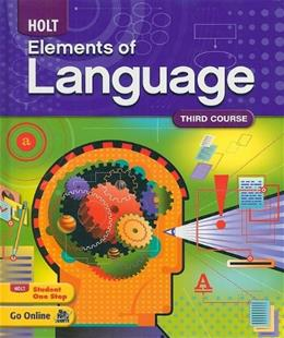 Holt Elements of Language, by Irvin, Grade 9, 3rd Course 9780030941955