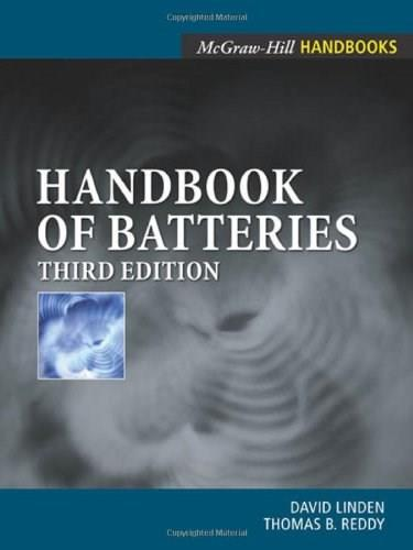 Handbook Of Batteries, by Linden, 3rd Edition 9780071359788