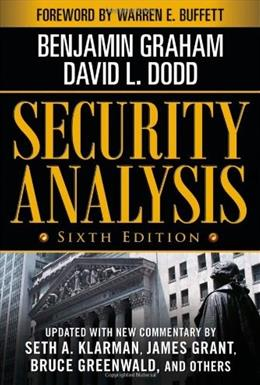 Security Analysis, by Graham, 6th Edition 6 w/CD 9780071592536