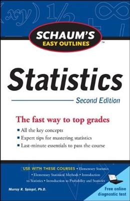Schaums Easy Outline of Statistics, Second Edition (Schaums Outline Series) 2 9780071745819