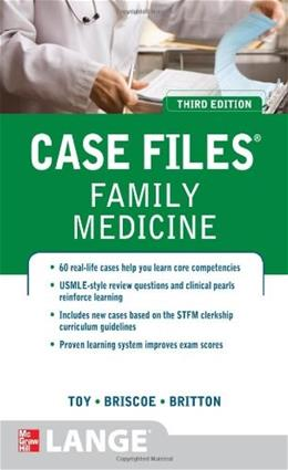 Case Files Family Medicine, by Toy, 3rd Edition 9780071753951