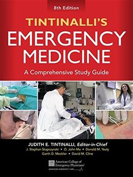 Tintinallis Emergency Medicine: A Comprehensive Study Guide, by Tintinalli, 8th Edition 9780071794763