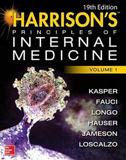 Harrisons Principles of Internal Medicine, by Kasper, 19th Edition, 2 VOLUME SET 19 PKG 9780071802154