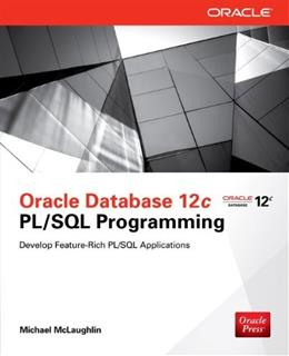 Oracle Database 12c PL / SQL Programming, by McLaughlin 9780071812436