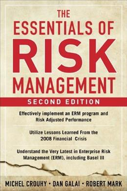 Essentials of Risk Management, by Crouhy, 2nd Edition 9780071818513