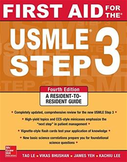 First Aid for the USMLE Step 3, Fourth Edition (First Aid USMLE) 4 9780071825962
