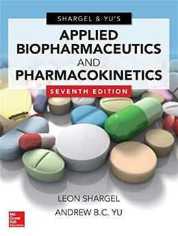 Applied Biopharmaceutics and Pharmacokinetics, by Shargel, 7th Edition 9780071830935