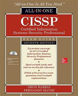 Cissp All-in-one Exam Guide, by Harris, 7th Edition 7 PKG 9780071849272