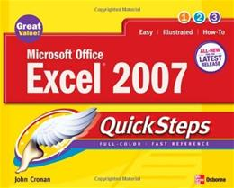 Microsoft Office Excel 2007 Quicksteps, by Cronan 9780072263725