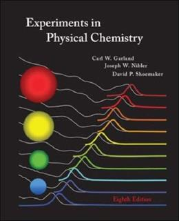 Experiments in Physical Chemistry 8 9780072828429