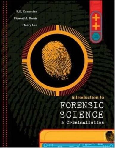 Introduction to Forensic Science and Criminalistics 1 9780072988482