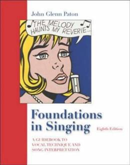 Foundations In Singing, by Paton, 8th Edition 9780072989793