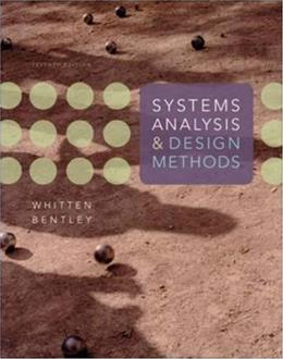 Systems Analysis and Design Methods 7 9780073052335