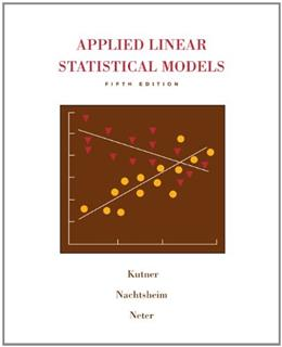 Applied Linear Statistical Models 5 w/CD 9780073108742