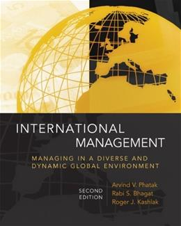 International Management: Managing in a Diverse and Dynamic Global Environment, by Phantak, 2nd Edition 9780073210575
