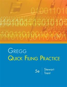 Gregg Quick Filing Practice Kit, by Stewart, 5th Edition 5 PKG 9780073222882