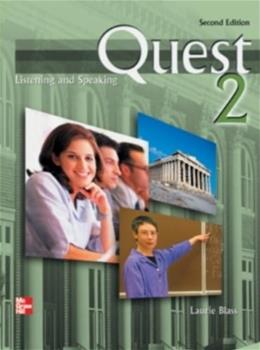 Quest 2: Listening and Speaking, by Blass, 2nd Edition, Worktext 2 w/CD 9780073269610