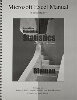 Elementary Statistics Excel Manual for Office 2000, by Bluman 9780073331225
