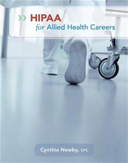HIPAA for Allied Health Careers, by Newby 9780073374123
