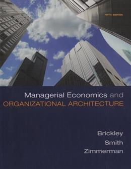 Managerial Economics & Organizational Architecture 5 9780073375823