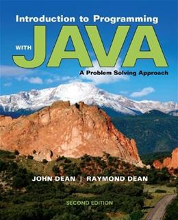 Introduction to Programming with Java: A Problem Solving Approach 2 9780073376066