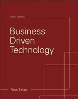 Business Driven Technology 6 9780073376905