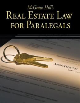 McGraw-Hills Real Estate Law for Paralegals, by Schaffer 9780073376950