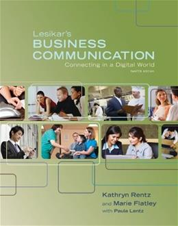 Business Communication: Connecting in a Digital World 12 9780073377797