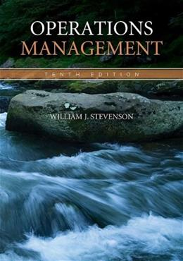 Operations Management, by Stevenson, 10th Edition 9780073377841