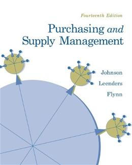 Purchasing and Supply Management (The Mcgraw-hill/Irwin Series Operations and Decisions Sciences) 14 9780073377896