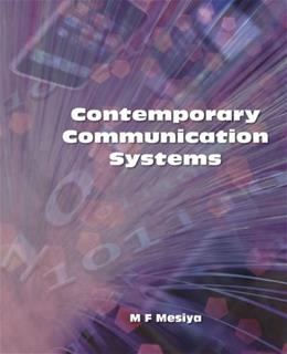 Contemporary Communication Systems, by Mesiya 9780073380360