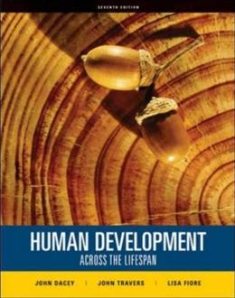 Human Development Across the Lifespan, by Dacey, 7th Edition 9780073382654