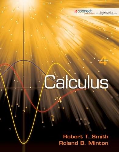Calculus, by Smith, 4th Edition 9780073383118