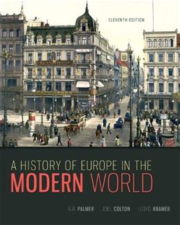 History of Europe in the Modern World, by Palmer, 11th Edition 9780073385549