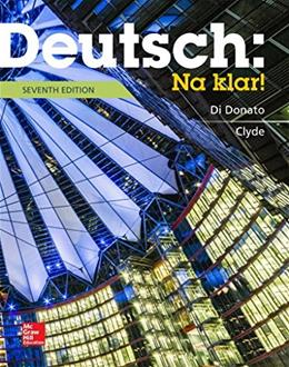 Deutsch: Na Klar!: An Introductory German Course, by Donato, 7th Edition 9780073386355