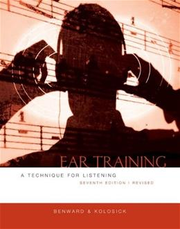 Ear Training: A Technique for Listening, by Benward, 7th Edition 9780073401362