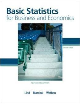 Basic Statistics for Business and Economics, by Lind, 7th Edition 9780073401782