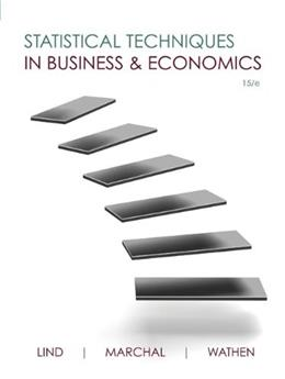 Statistical Techniques in Business and Economics (Mcgraw-hill/Irwin Series Operations and Decision Sciences) 15 9780073401805