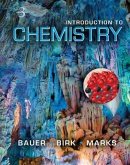 Introduction to Chemistry, by Bauer, 3rd Edition 9780073402673