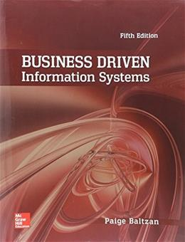 Business Driven Information Systems 5 9780073402987
