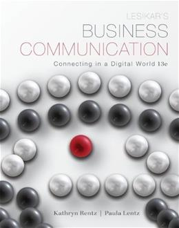 Business Communication: Connecting in a Digital World 13 9780073403212