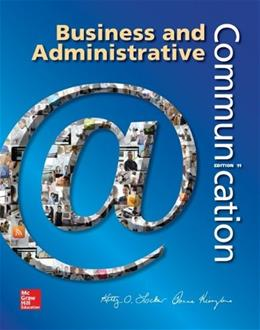 Business and Administrative Communication 11 9780073403250