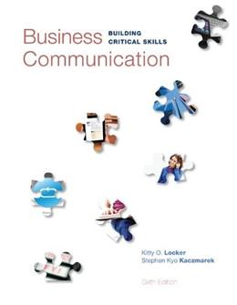 Business Communication: Building Critical Skills 6 9780073403267