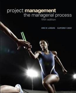 Project Management: The Managerial Process 5 9780073403342